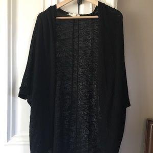 Batwing black cardigan